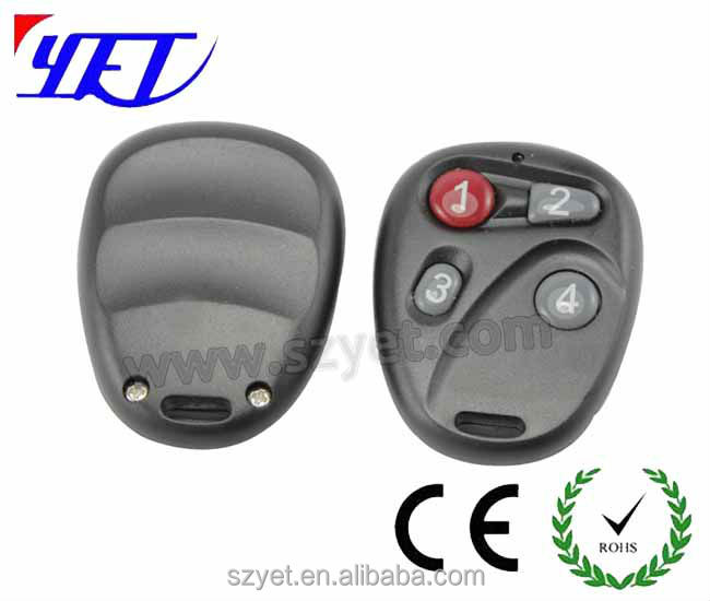 universal car remote control transmitter 4 buttons remote control plastic case