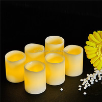 Battery powered scented real wax led candle pillar candles
