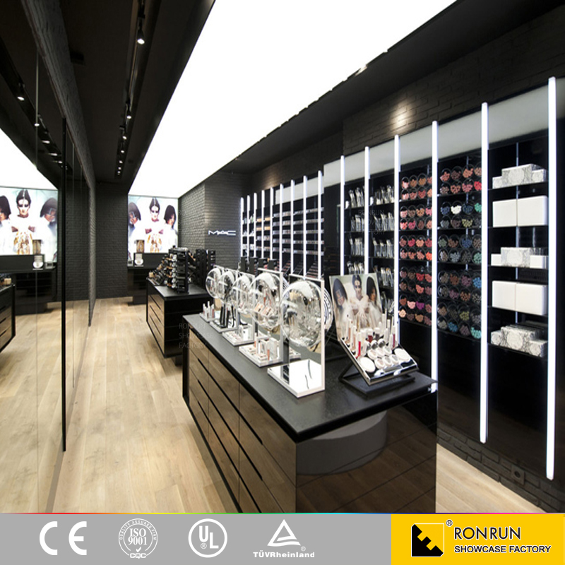 Popular Beauty Customized Makeup Display For Cosmetic Shop Counter Design