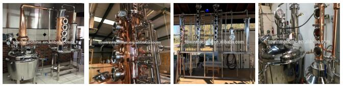 New type glasses moonshine stills with copper bubble plate ,reflux still ,distillation column price