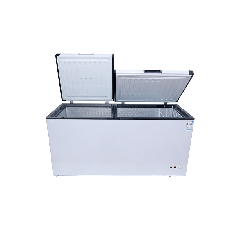 500L chest two folding doors refrigerated counter cold storage deep freezer