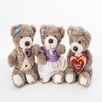 Customized valentine's Day gift plush stuffed teddy toys plush bear with clothes