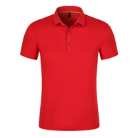 custom best quality soft elastic red cotton polo shirt