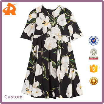 ed8ce988de8 Hot Sale Print Flower Girl Dresses Of 12 Year Girl Without Children Girl  Dress