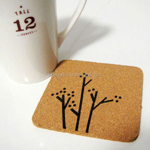 China supplier wholesale wine cork coasters free accept printing individual logo wedding favors