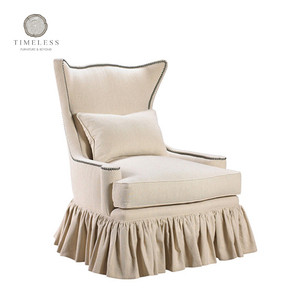 High quality french antique skirted fabric chair
