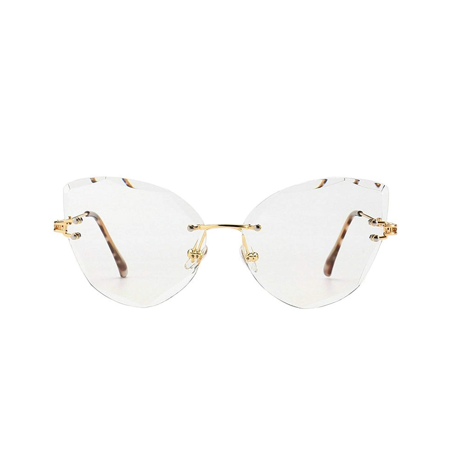 65b3d3de3d4 Get Quotations · MINCL 2018 Hot Sale Rimless Oversized Sexy Cateye Sunglasses  Womens Diamond Trimming Glasses UV400