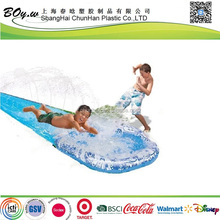 ISO factory OEM children outdoor water play Splash pvc inflatable water slide for kids