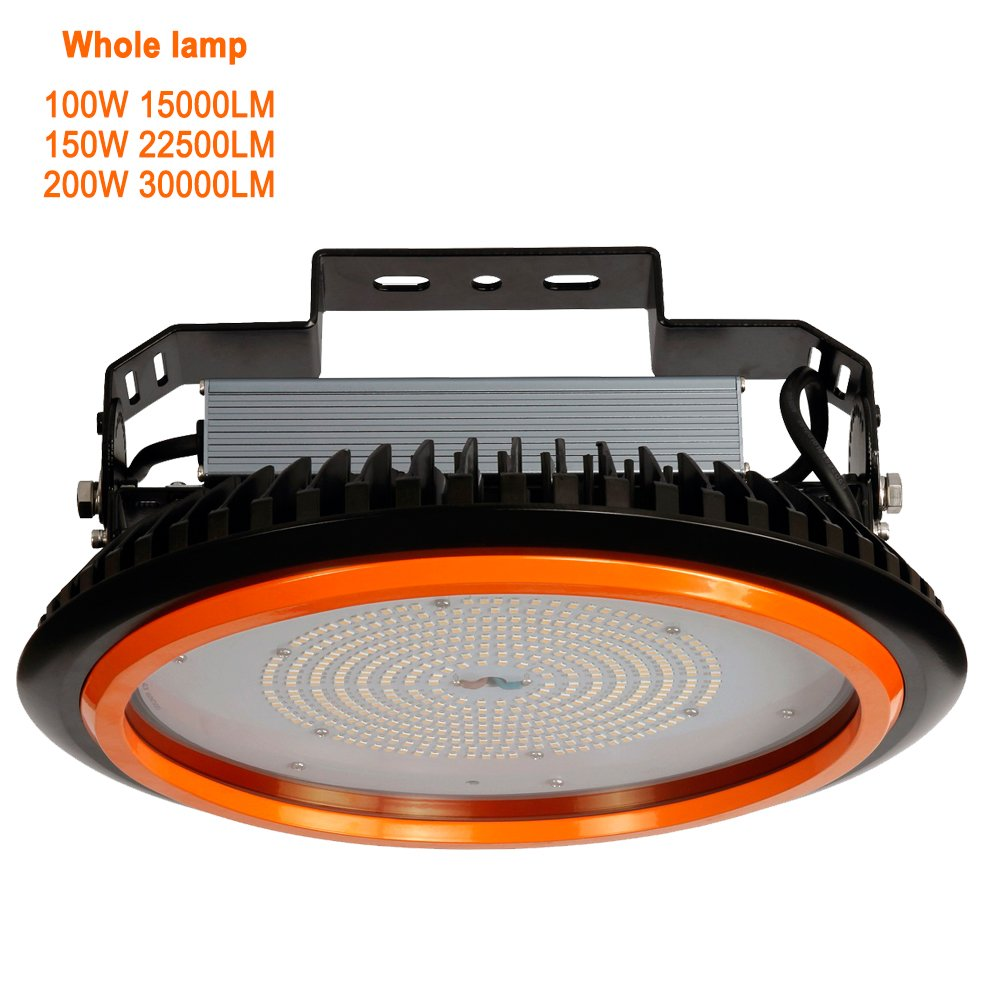 Promotion Factory led Industrial lamp 30000lm 200w UFO LED High Bay Light CCT 6000k,200w UFO led high Bay Light 200w ul proved led Warehouse Light high Bay led Lighting 200w(200W)
