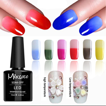 Mixcoco New Products Mood Change Thermo Color Gel Nail Polish Top Coat For Autumn And Winter