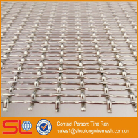 Hebei Shuolong ISO Manufactory XY-3135 Stainless steel architectural metal mesh / crimped wire mesh / crimped weave wire mesh