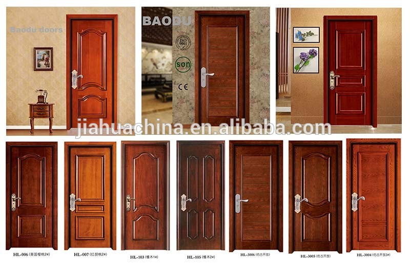 China solid wooden door interior door room door new design for New main door design
