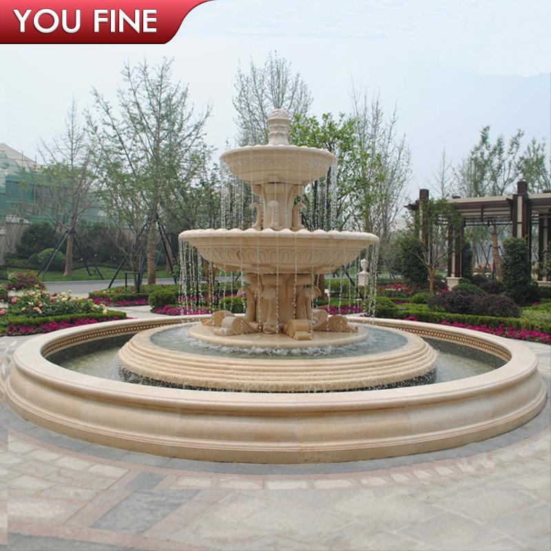 Park Essay Garden Yellow Water Stone Fountains