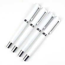 Pure white pen roller metal ball pen cheap price pen with cuatom logo
