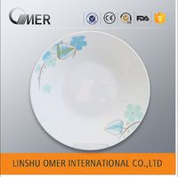 Direct From Factory China Alibaba bulk custom printed ceramic plate hotel ware porcelain