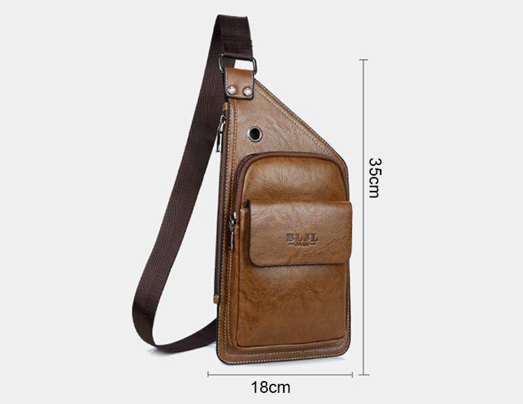 2018 new arrivals men's shoulder bag Messenger Sling Bags PU crossbody bag for boys