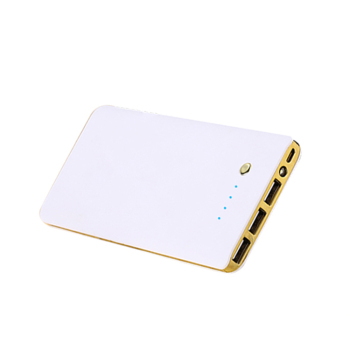 Fast Production high capacity 10000mAh super slim power bank, three USB ports
