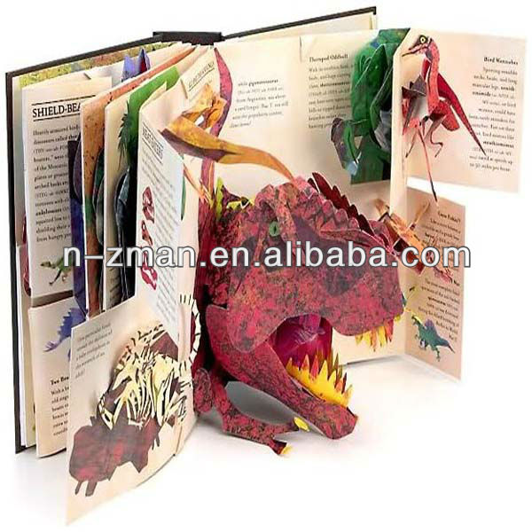 POP UP Story book,POP UP Book with dinosaur,POP UP Book story book children