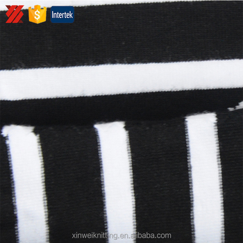 Enough Soft And Thin Black And White Striped Twill Cotton Fabric