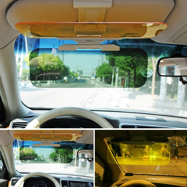 Новый автомобилей зонт очки авто солнцезащитные очки щит откидная крышка козырек клип день и ночь машину с антибликовым покрытием солнцезащитный козырек бесплатная доставка 10