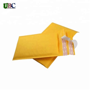 wholesale golden recycled kraft bubble mailers