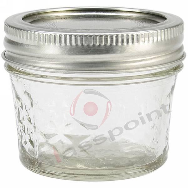 4-oz Quilted Crystal Jelly Jars,Glass Jar For Jelly,Taper Shape ... : quilted jars - Adamdwight.com