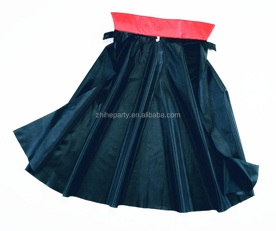 Satin halloween vampire cape for kids
