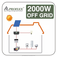2000w solar off grid system/ 2kw home solar pane kit / home solar power station