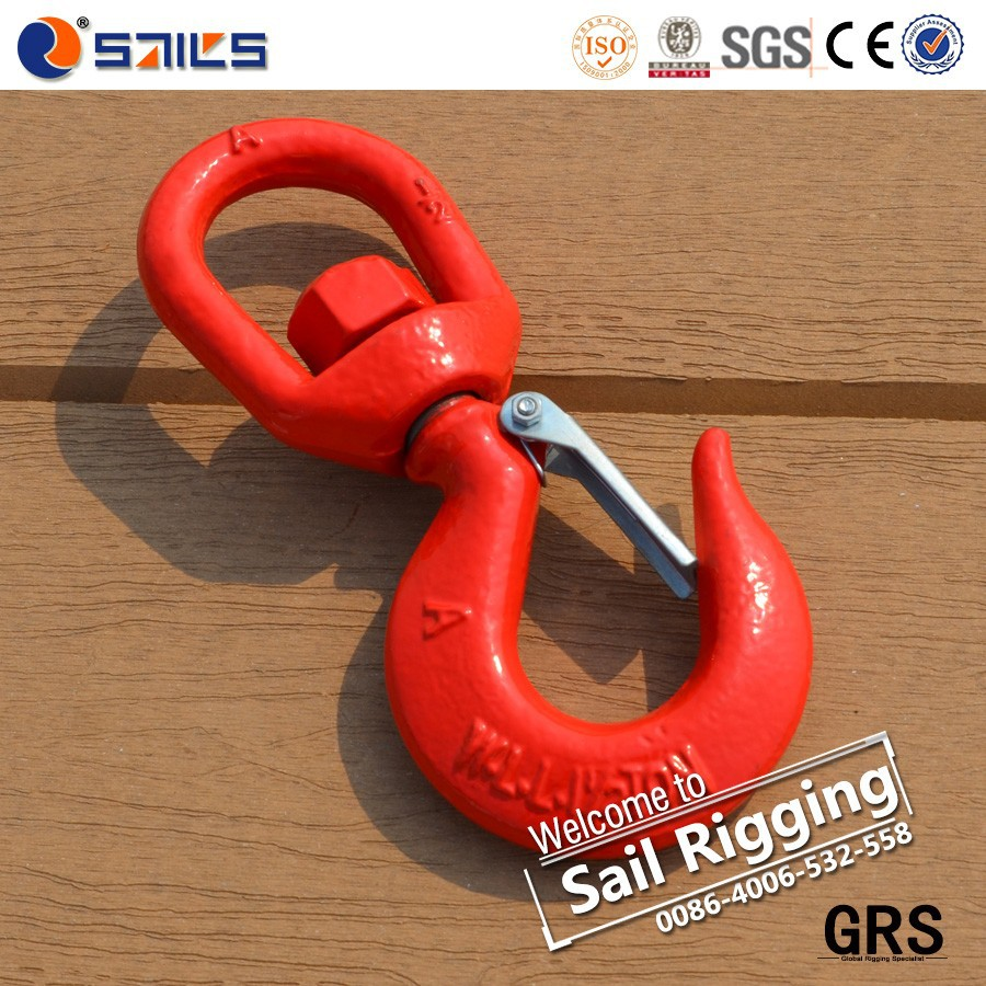 lifting chain forging s322 swivel hoist hook with latch