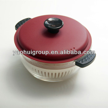 Mini Microwave Oven High Temperature Resistant Gl Cooking Pots With Handle