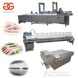 Factory Hot Selling Paws Skin Removing Machinery processing plant Chicken Feet Peeling Machine Price Paw Peeled Machines
