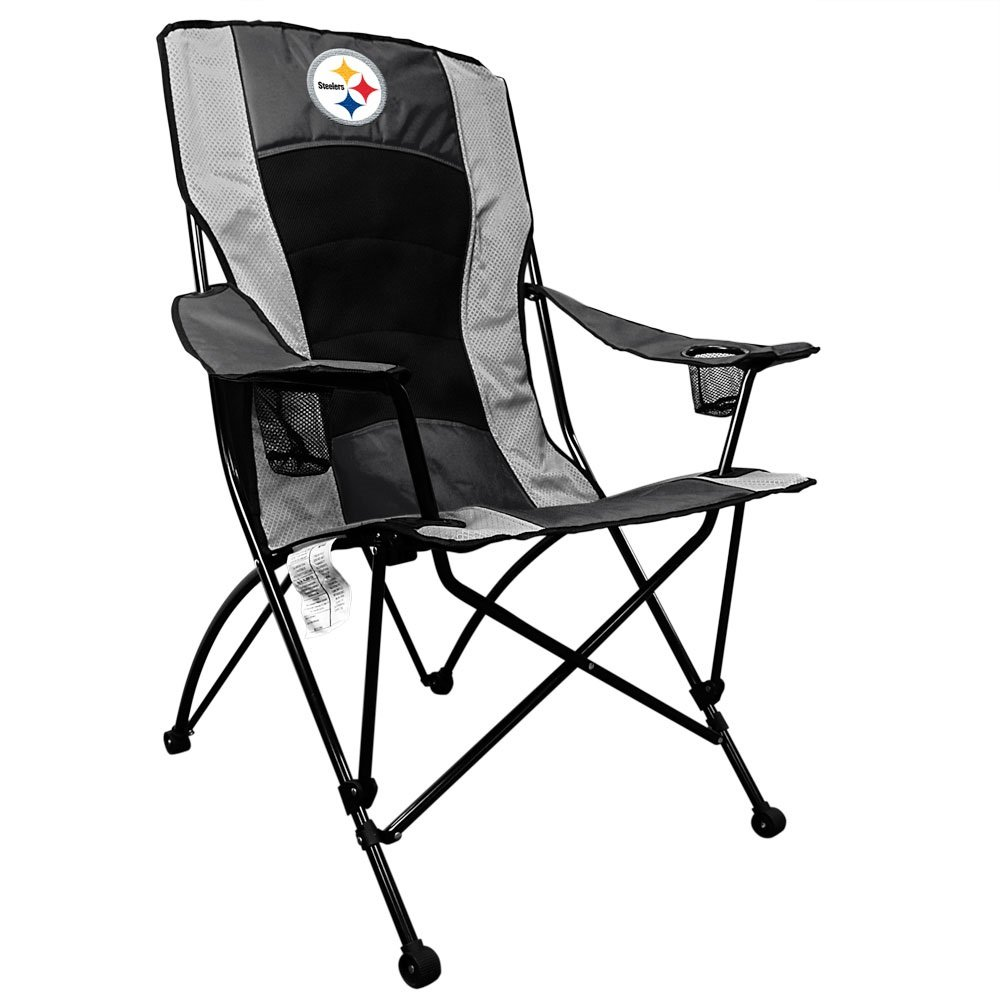 Get Quotations · Pittsburgh Steelers Coleman High Back Folding Chair NFL  Tailgagte