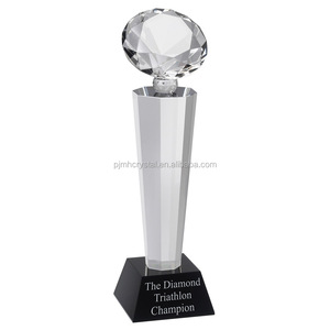 unique design crystal trophy for memento gift MH-JB011