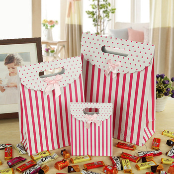 cute paper candy cookie gift bags handle jewelry packaging party