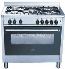 5 Burner Gas Range Stove With Oven 102L