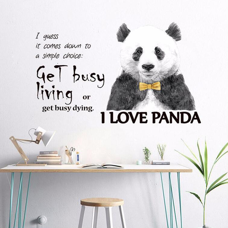 Kids Bedroom Cute Cartoon Panda Wall Stickers - Buy Panda Wall  Stickers,Cute Wall Stickers,Kids Wall Stickers Product on Alibaba.com