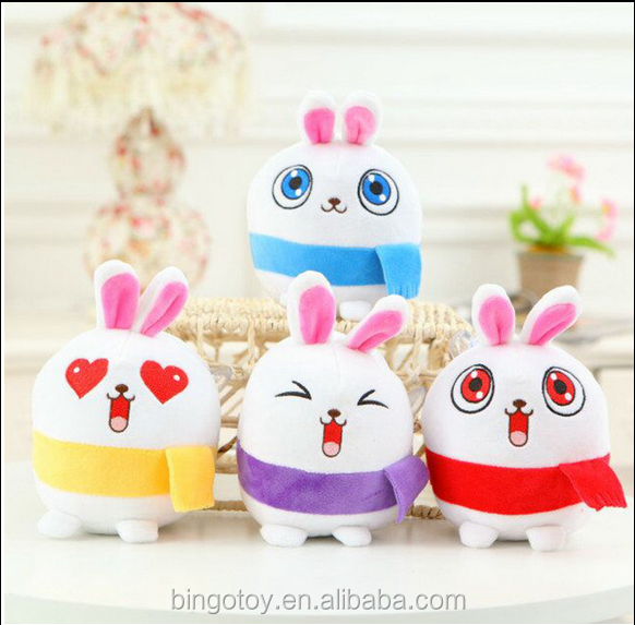 wholesale plush material emoji cushion stuffed plush rabbit toy funny rabbit emoji pillow