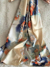 100% silk scarf wholesale china,ombre fashion printed scarf
