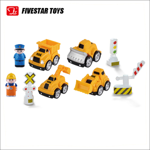 DIY Build Play Assembly Construction Cartoon Mini Plastic Truck Toy
