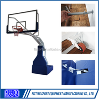 Professional Movable Indoor Manual-hydraulic Steel Base Basketball Stand