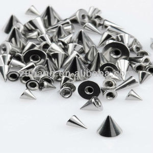316L Surgical Steel Spikes Cones for 1.6mm Barbell Pins