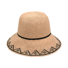 Women summer paper straw bucket hat for SS18