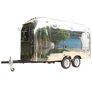Mirror stainless steel dining car/Custom mobile food truck/coffee cart/wheels on meals
