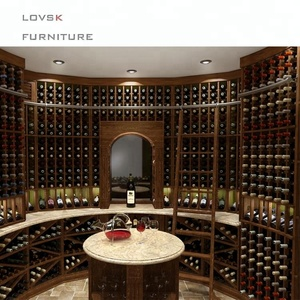 Traditional Luxury Home Custom Design Display Wooden Wine Cellar