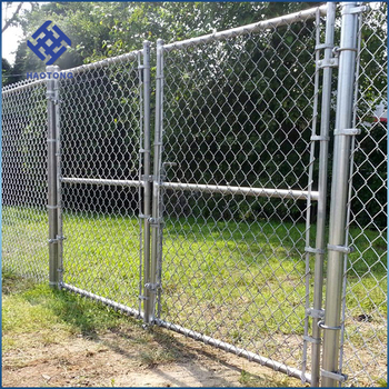 Black Vinyl Coated Chain Link Fence Round Post