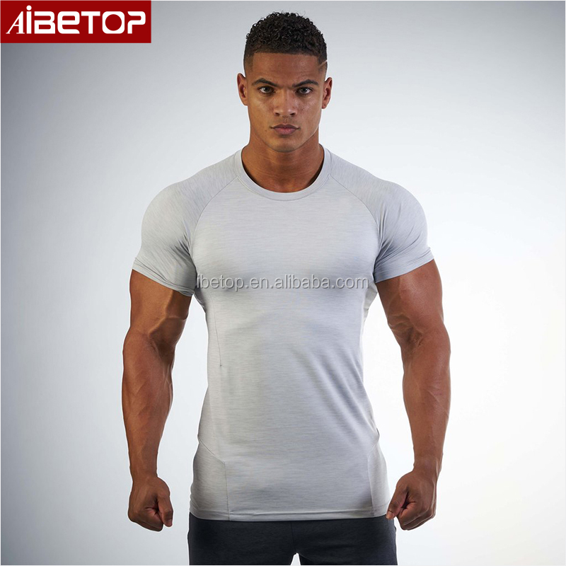 31c27d8aac23 wholesale china manufacturing cheap blank black raglan compression fitness  sport running gym muscle dry fit custom t shirt men