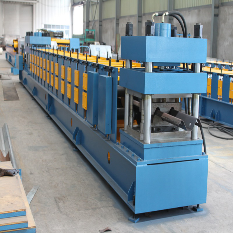 Guard rail forming machine with W beam crash barrier forming machine
