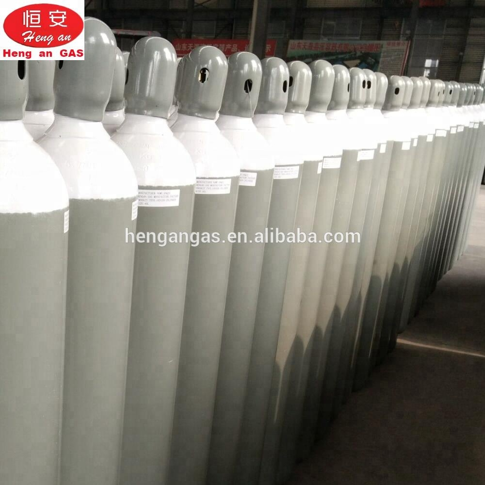 Hot Sale TPED Approval High Pressure Industrial 50L Argon Gas Cylinder With Tulip Cap For Protection