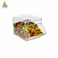 Retail Store Use Shape Clear Lucite Dispenser Acrylic Candy Box Clear Plexiglass Candy with lid/lock