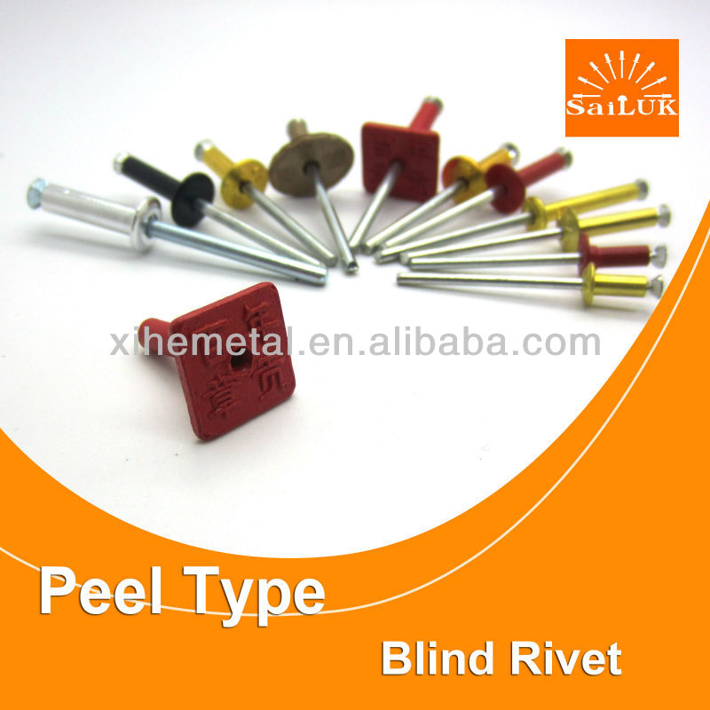 Aluminium flower shape rivet /competitive price